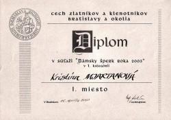 Dámsky šperk roku 2004